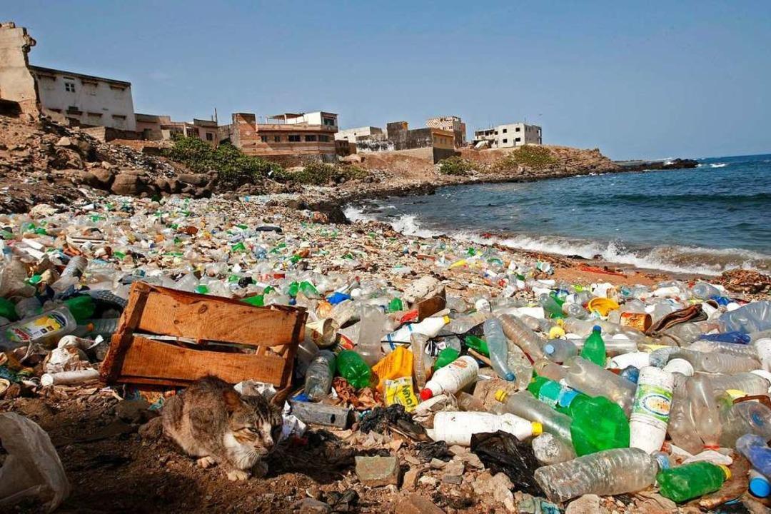 Von Plastikmüll übersät ist dieser Atlantikstrand im Senegal.  | Foto: Nic Bothma