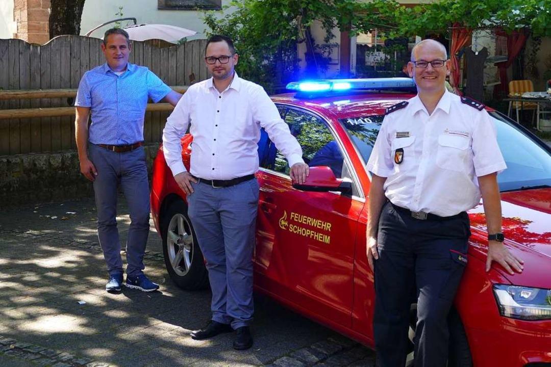 Der zukünftige Feuerwehrkommandant Ste...d Vizekommandant Andreas Lenz (rechts)  | Foto: Sattelberger
