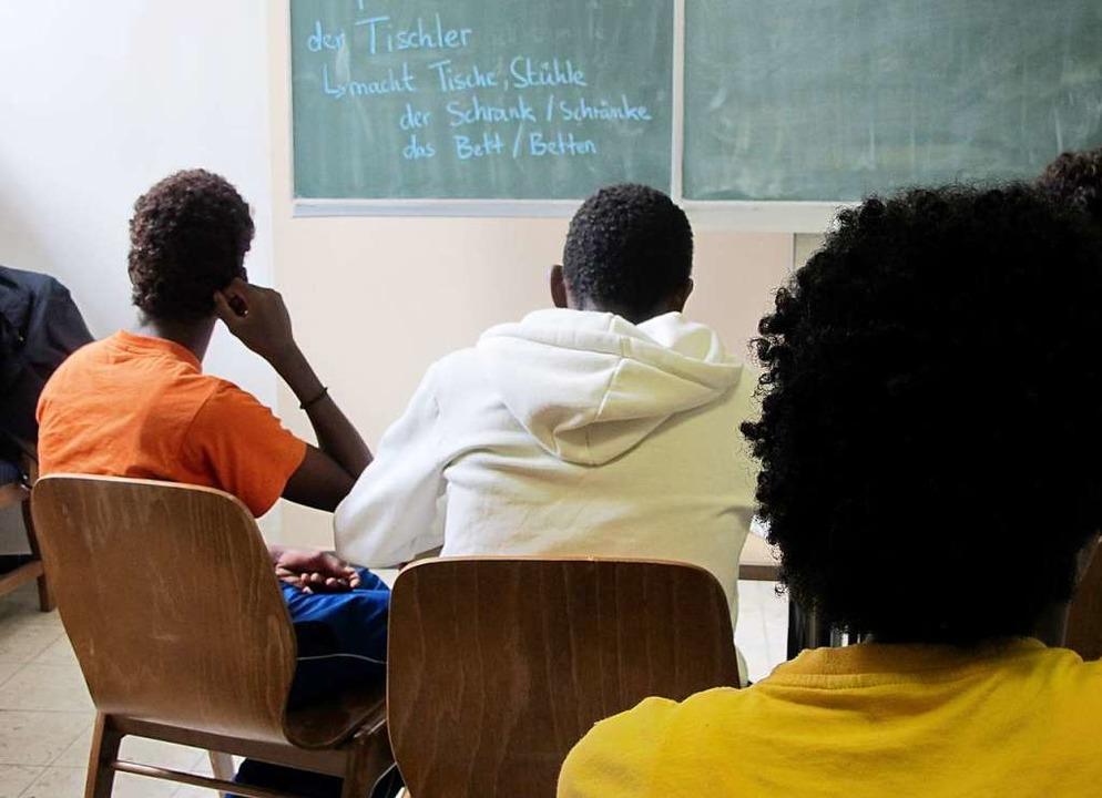 Sprachunterricht vermissen Geflüchtete in der Corona-Krise (Symbolbild).    Foto: Birgit Reichert