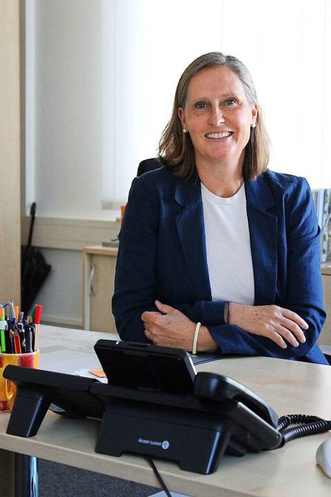 Anne Thörner in ihrem Büro in Emmendingen  | Foto: Annika Sindlinger