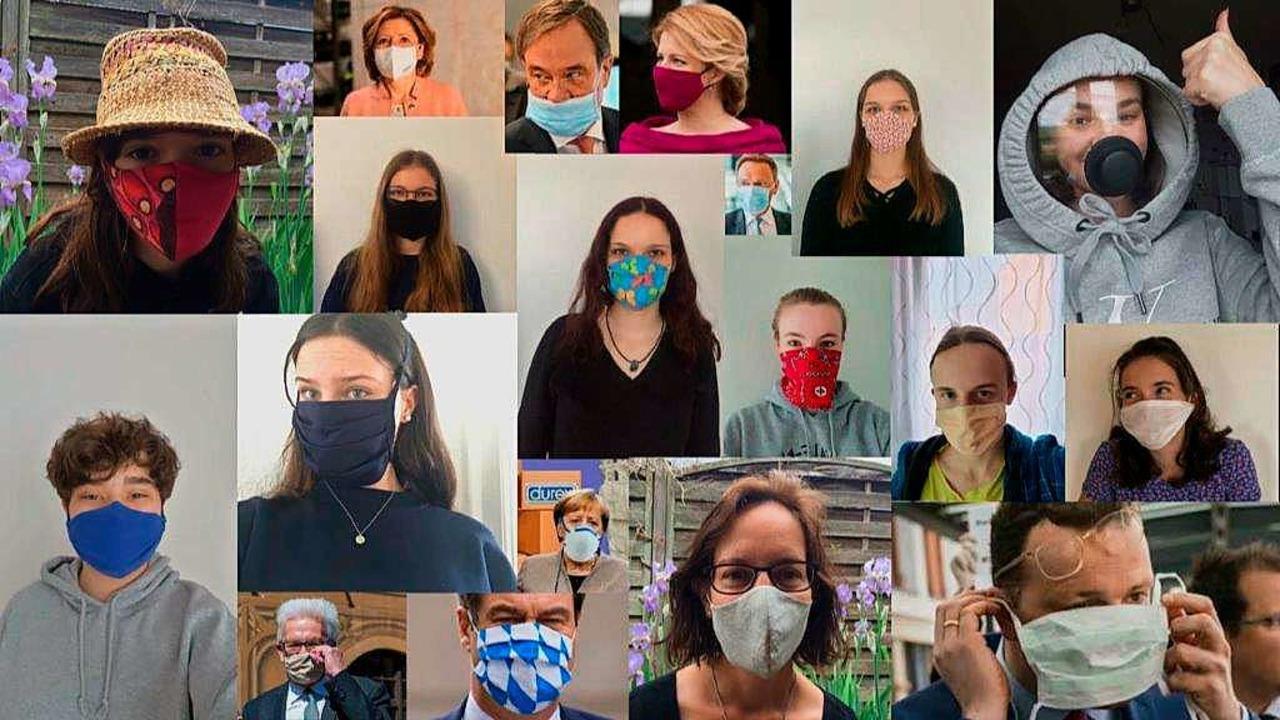 Maske über Maske: Alle befolgen das Vermummungsgebot.  | Foto: Kreisgymnasium