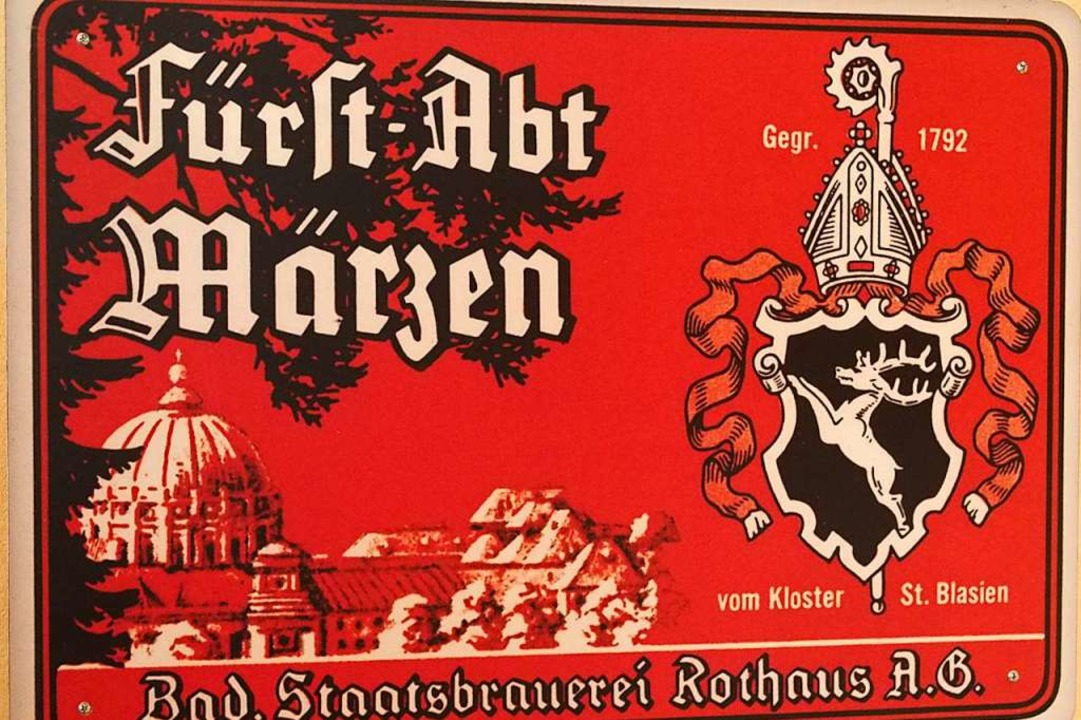 Dem fürstäbtliche Gründer wurde auch e...wischen stattlichen Brauerei gewidmet.  | Foto: Thomas Mutter