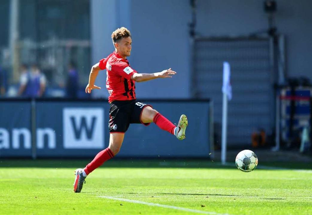 Luca Waldschmidt erzielte gegen die Knappen zwei Tore.  | Foto: Achim Keller/SCFreiburg