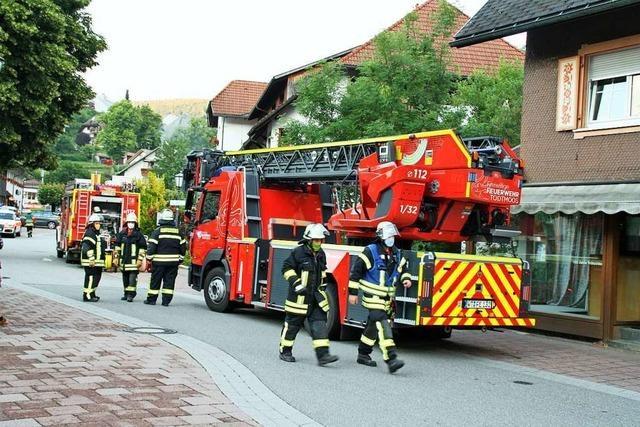 Großeinsatz der Feuerwehren in der Verus-Klinik in Todtmoos