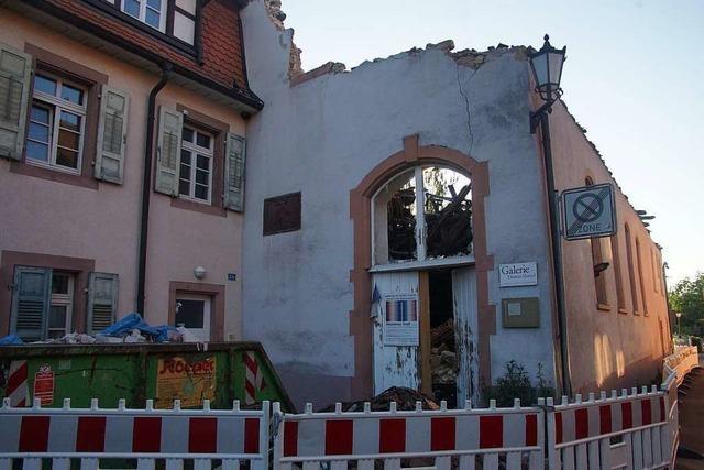 Brandruine des E-Werks in Kenzingen wird abgerissen