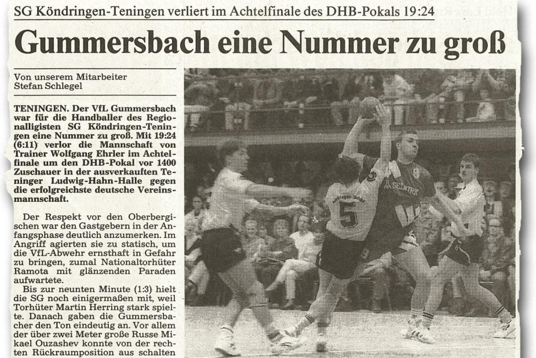 Der Bericht in der Badischen Zeitung v...ersbach bei der SG Köndringen-Teningen  | Foto: privat