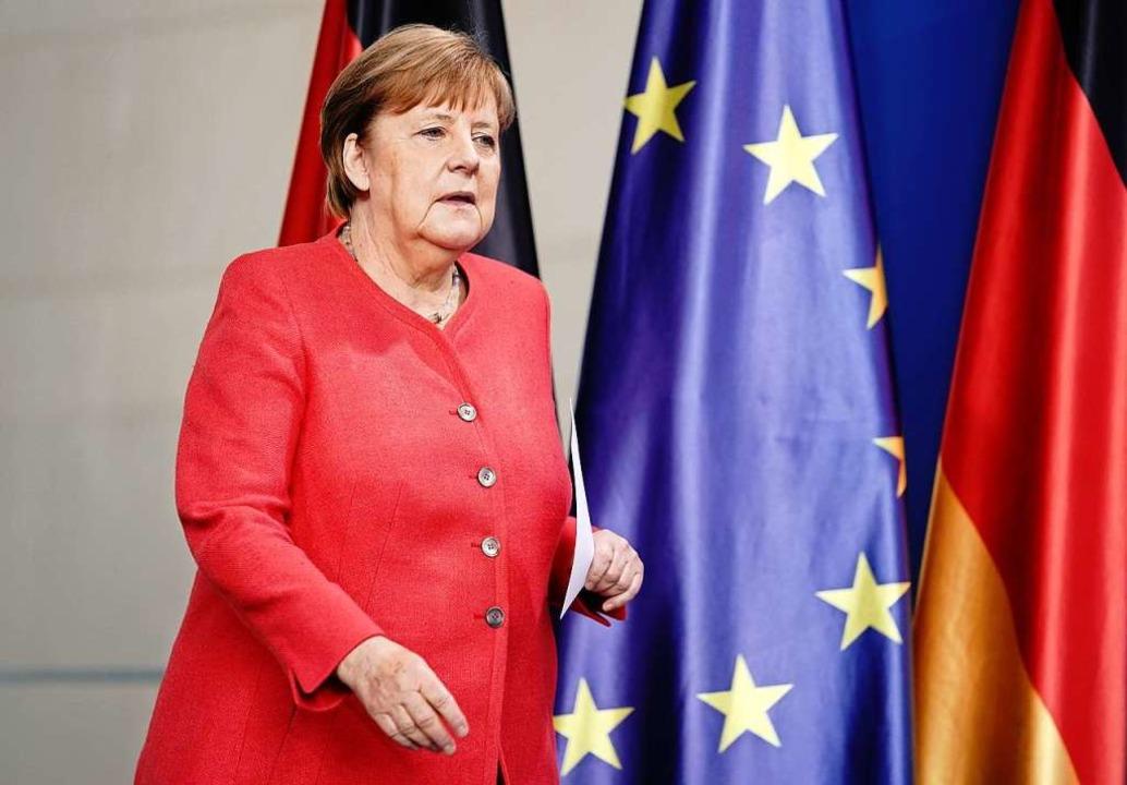 Ihre Leidenschaft für Europa hat zulet...enommen: Bundeskanzlerin Angela Merkel  | Foto: Kay Nietfeld (dpa)