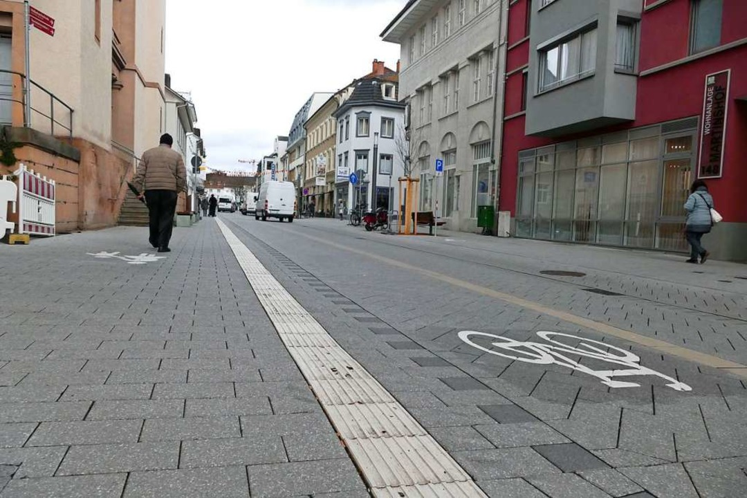 Die nördliche Basler Straße in Lörrach    Foto: Peter Gerigk