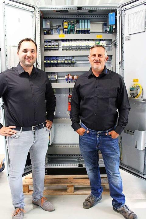 Für Sebastian Lorenz (links) und Manuel Volk ist es ihr bislang größter Auftrag.  | Foto: Annika Sindlinger