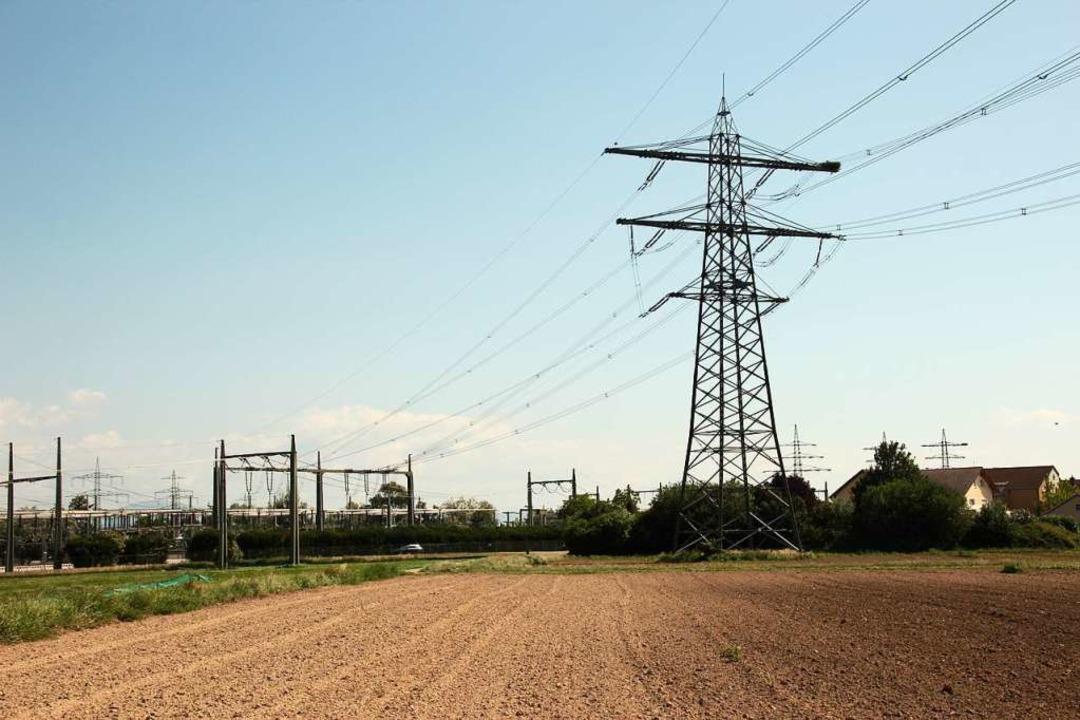Das Umspannwerk in Eichstetten: Der Ma...erer Zukunft ein Baugebiet entwickeln.  | Foto: Mario Schöneberg