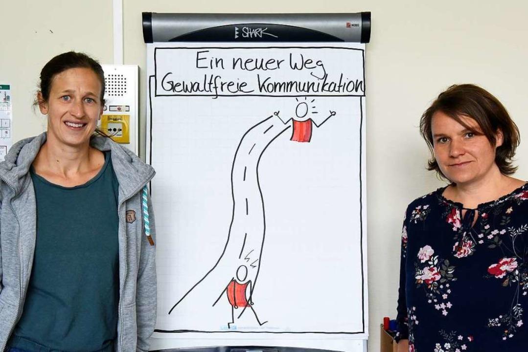 Kathrin Ehrlacher (links) und Heidi Beilharz   | Foto: Markus Zimmermann
