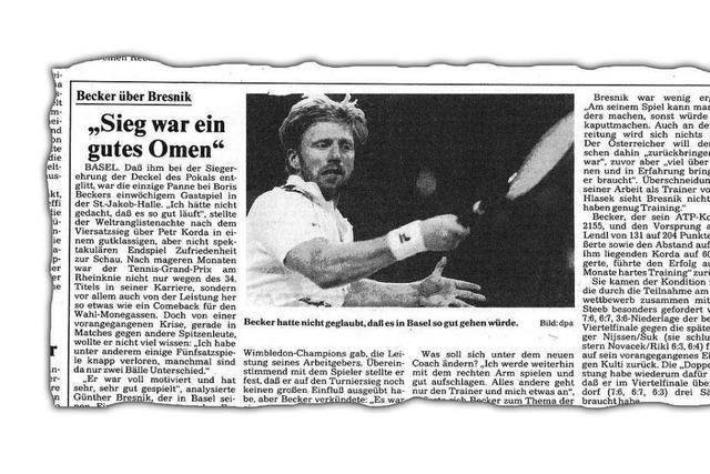 Warum Boris Becker schon vor seinem Wimbledon-Sieg in Basel spielte