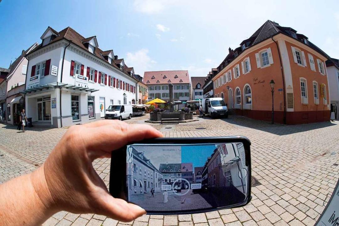 Damals und heute: Historische Aufnahme...n sich spannende Vergleiche anstellen.  | Foto: Volker Münch