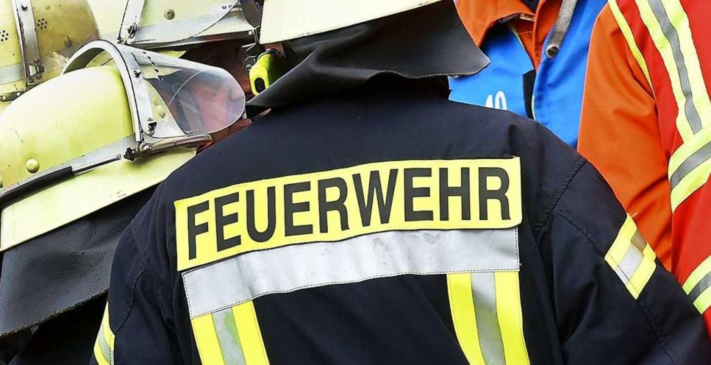Am Sonntag musste die Marcher Feuerweh...ner brennenden Spülmaschine ausrücken.  | Foto: Holger Hollemann (dpa)
