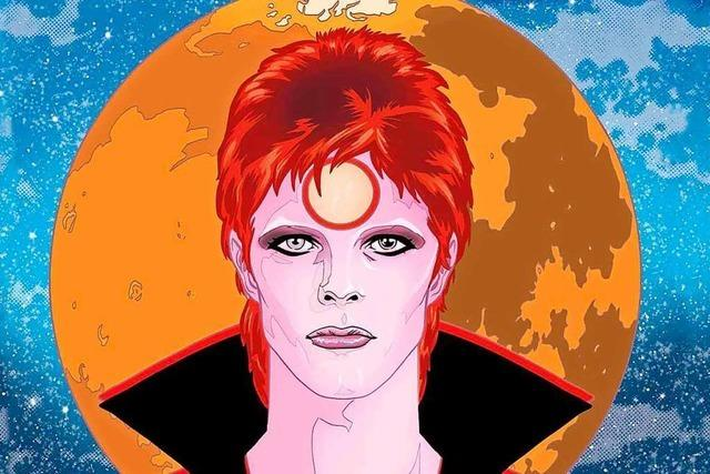 Wimmelbilder über David Bowies Ziggy-Stardust-Jahre
