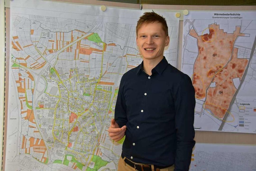 David Matuschek ist der Klimaschutzbeauftragte von Gundelfingen  | Foto: Andrea Steinhart