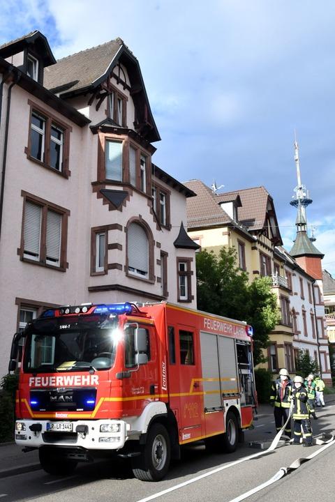Die Wehrleute hatten das Feuer schnell unter Kontrolle.  | Foto: Wolfgang Künstle