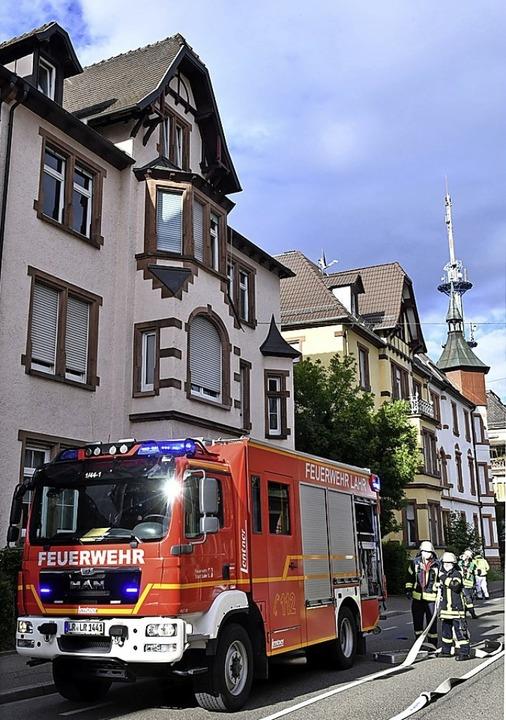 In der Lotzbeckstraße brannte es.    Foto: Wolfgang Künstle