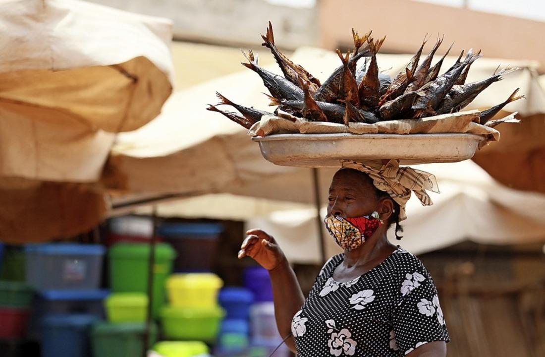 Straßenszene in Togos Hauptstadt Lomé    Foto: -