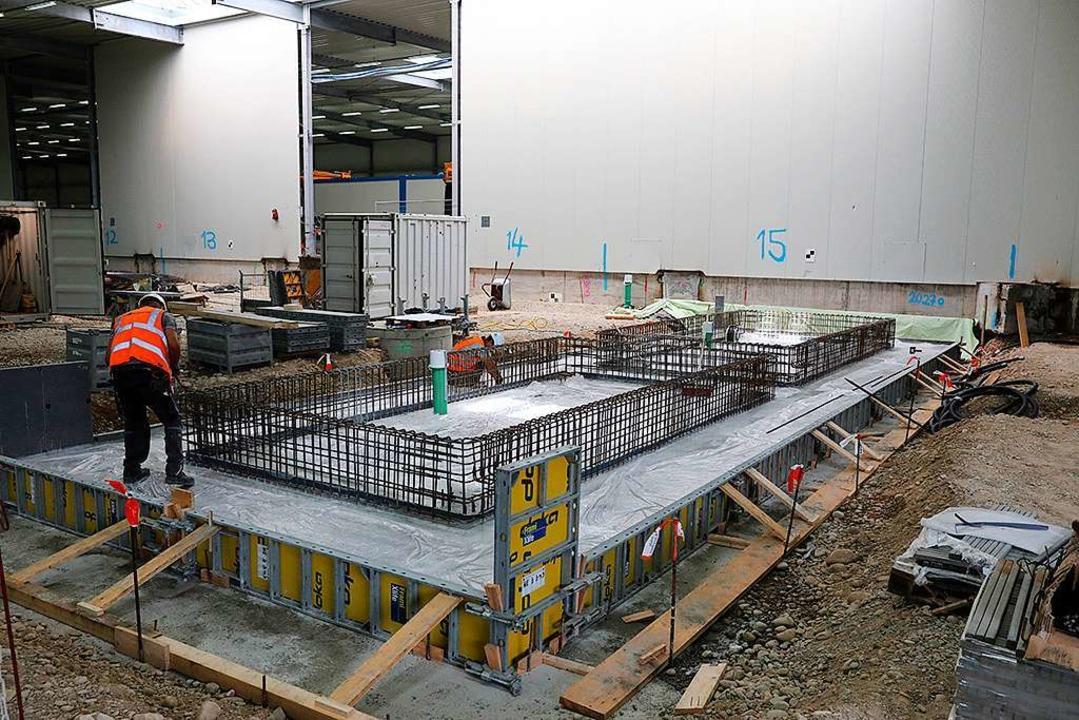Im Baufeld Süd und innerhalb der Logis...n für die drei Schleusensysteme statt.    Foto: Pressefoto Roche
