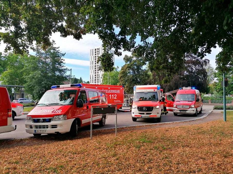 Großeinsatz in Lörrach  | Foto: Kathrin Ganter
