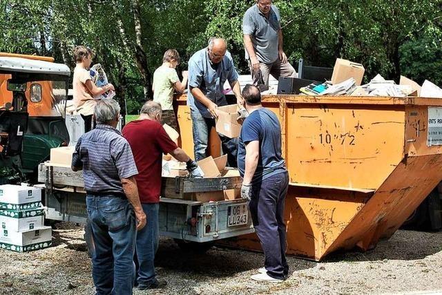 Männergesangverein sammelt Altpapier zur Aufbesserung der Vereinskasse