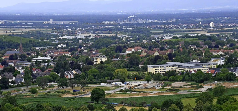 """Das Baugebiet """"Am langen Rain&#8... Nähe der Kernstadt zugeordnet werden.    Foto: Volker Münch"""