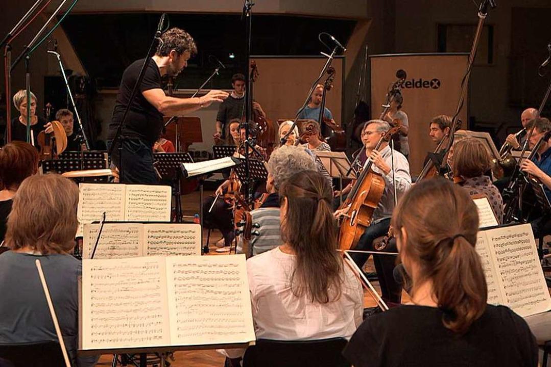 Bei den Aufnahmen zur CD in Berlin: Pa...ado und das Freiburger Barockorchester  | Foto: Raphael Wertheimer/Harmonia Mundi