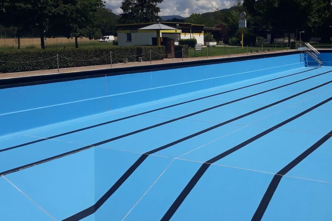 In diesem Becken wird dieses Jahr niemand schwimmen.  | Foto: Gemeinde  Steinen