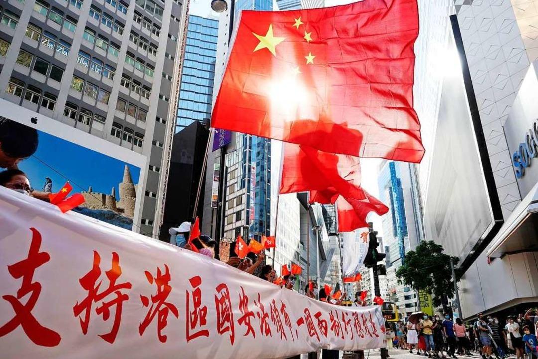 Wie geht es mit Hongkong weiter?  | Foto: Wang Shen (dpa)