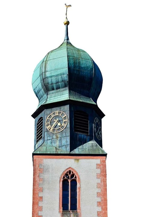 Turm der Kirche St. Cyriak in Freiburg-Lehen  | Foto: Michael Bamberger