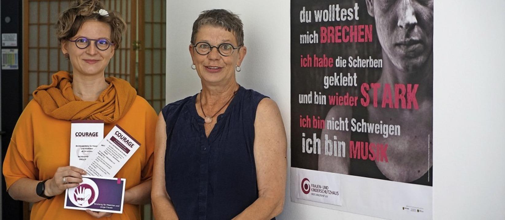 Ann-Dorothee Zühlke und Marlies Sonnta...ut  beraten bei  sexualisierte Gewalt.  | Foto: Verena Wehrle