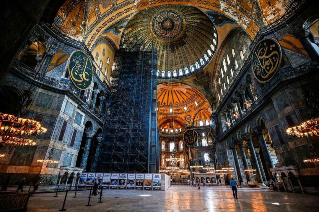 Streit um die Hagia Sophia  | Foto: Emrah Gurel (dpa)