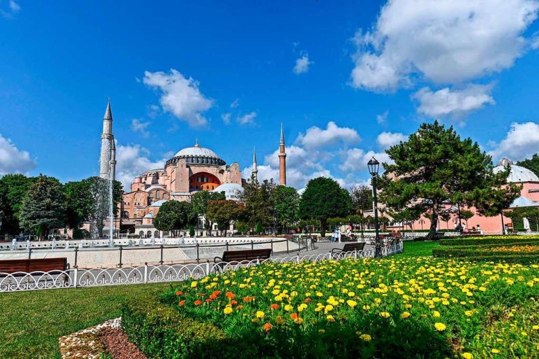 Streit um die Hagia Sophia  | Foto: OZAN KOSE (AFP)