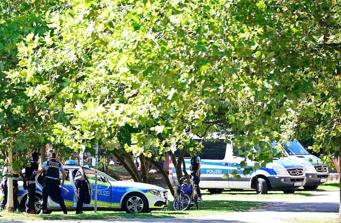 Verstärkte Polizeipräsenz und eine Aus...tiger Bestandteil der neuen Strategie.    Foto: Ingo Schneider