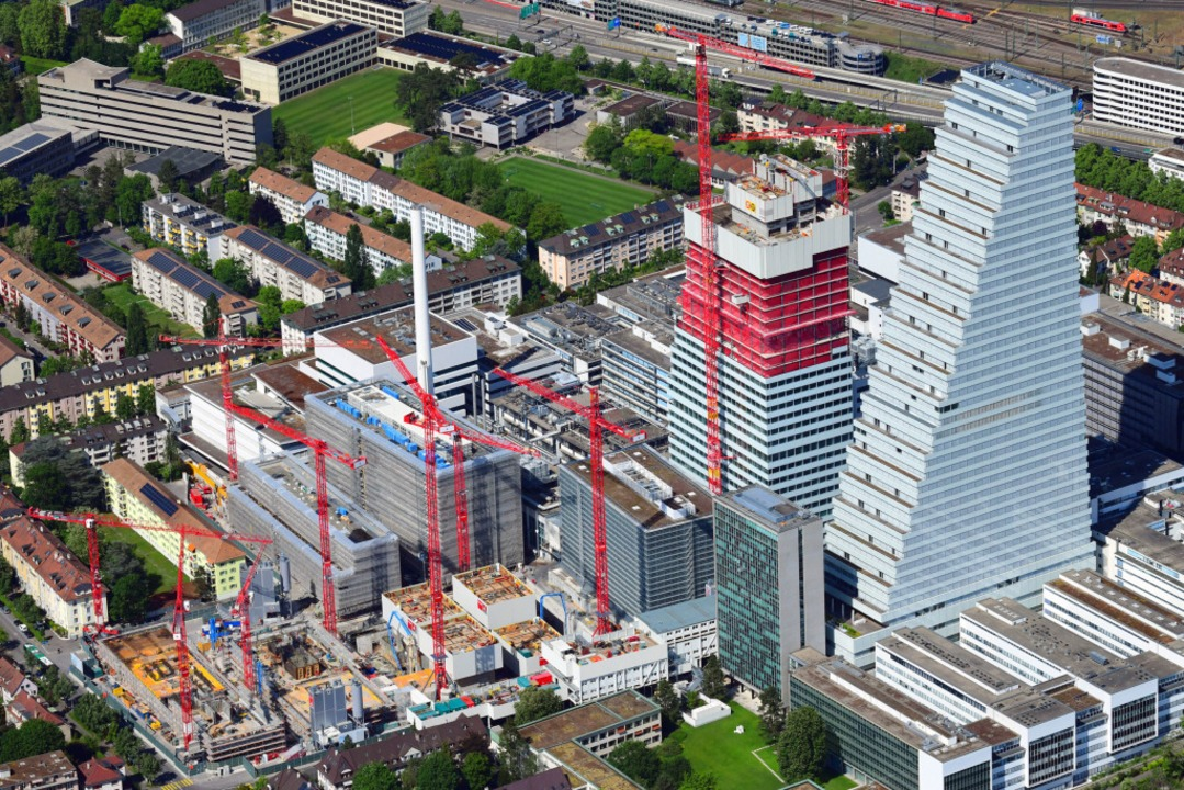 Die Roche-Baustelle in Basel    Foto: Erich Meyer