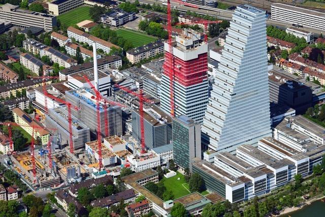 Bauarbeiter stürzt auf Roche-Baustelle 40 Meter tief und stirbt