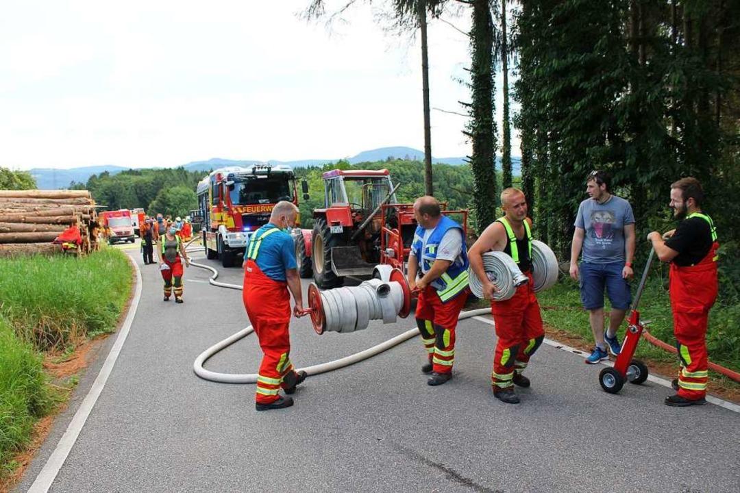 Am Mittwoch kurz nach 14.30 Uhr war der Brand gemeldet worden.  | Foto: Wolfgang Tröndle