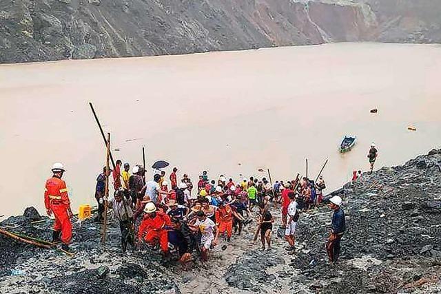 Erdrutsch in Myanmar: 110 Menschen bei Minen-Unfall getötet