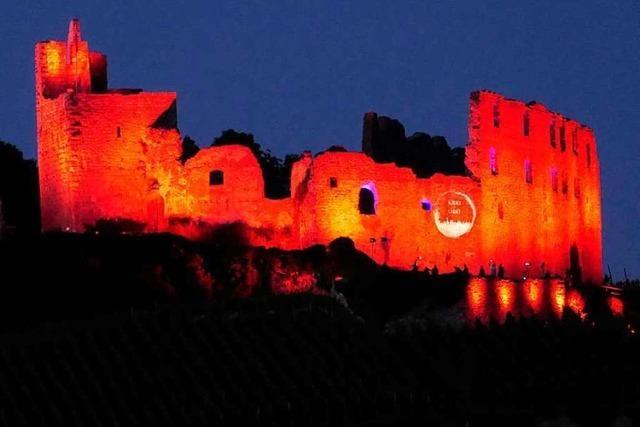 Die Staufener Burg, die eigentlich eine Burgruine ist