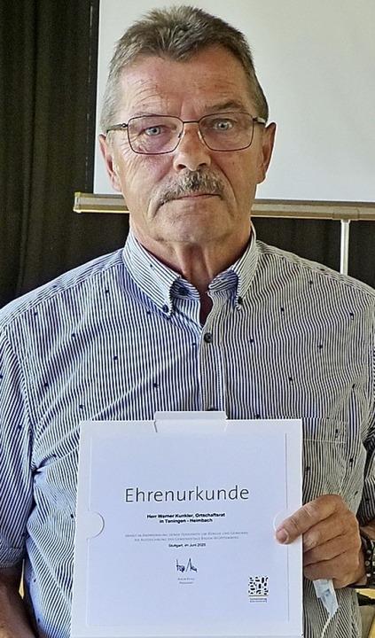 Engagiert sich seit 40 Jahren: Werner Kunkler     Foto: Aribert Rüssel