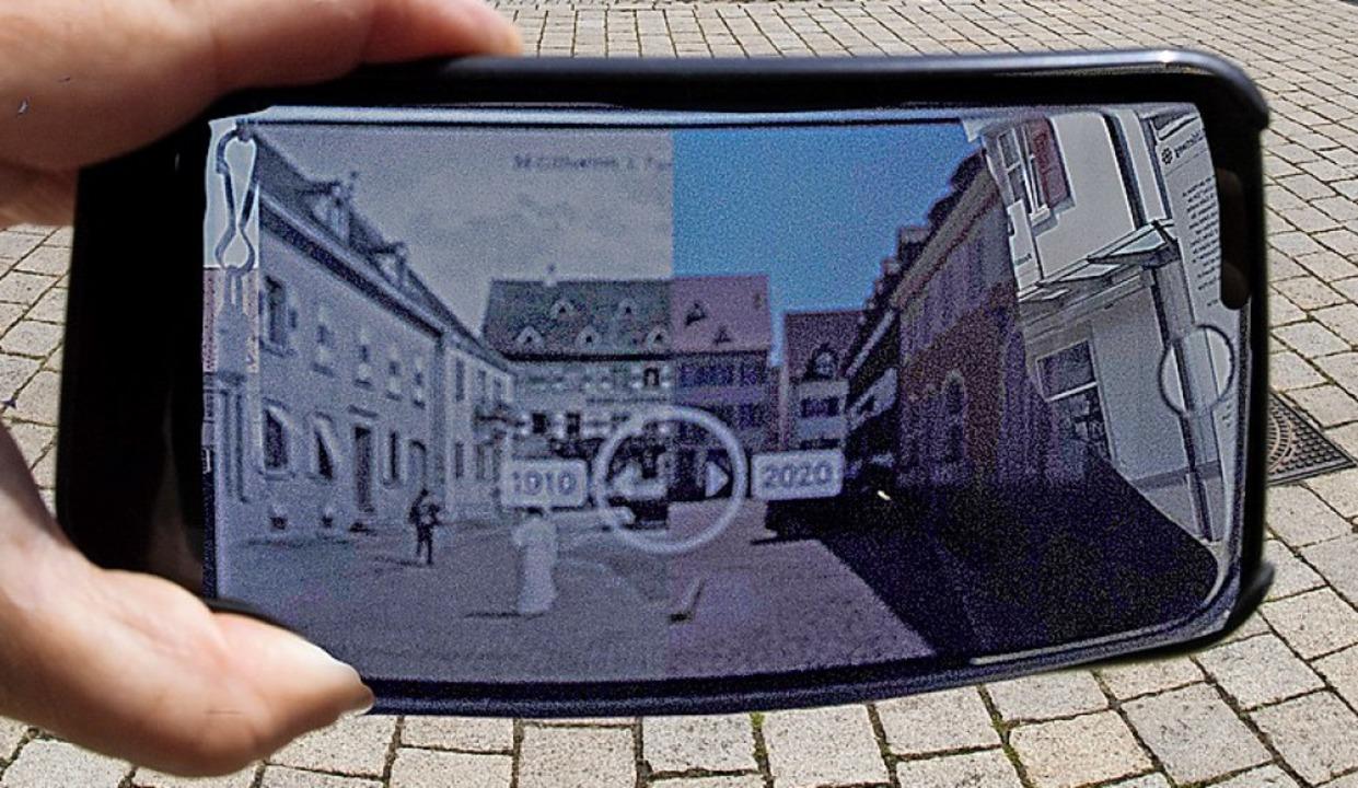 Müllheim damals und heute: der Vergleich ist digital nun möglich.  | Foto: Volker Münch