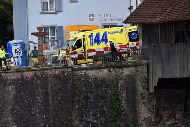 Tödlicher Unfall bei der alten Rheinbrücke gegenüber Bad Säckingen