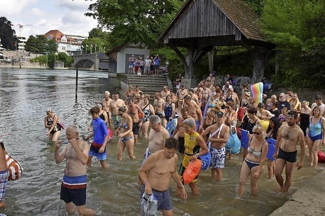 Das Rheinschwimmen fällt ins Wasser