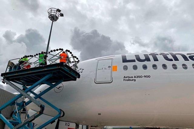 Der vorerst letzte neugekaufte A 350 der Lufthansa ist nach Freiburg benannt