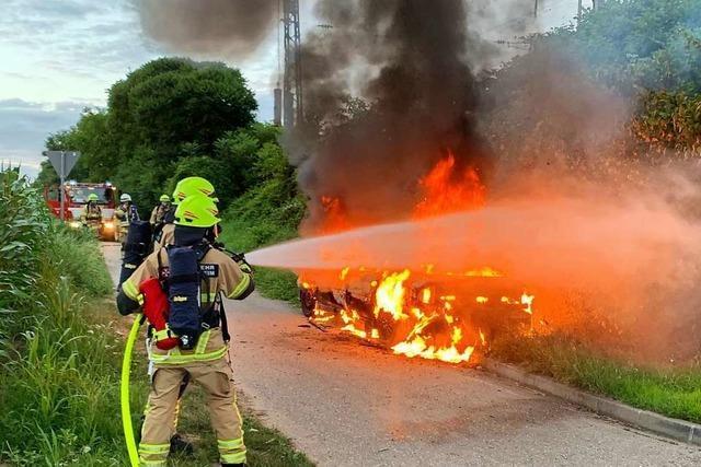 Auto in Heitersheim ausgebrannt – Ursache unklar