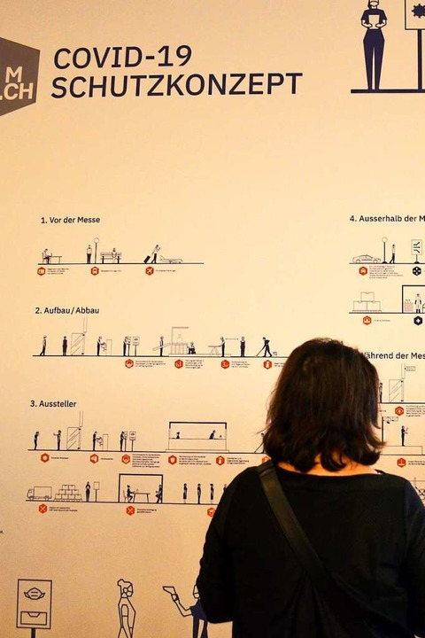 Die grafische Darstellung des Schutzko...anze Wand ein und stößt auf Interesse.  | Foto: Savera Kang