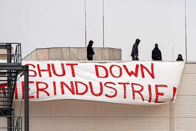 Protestaktion bei Tönnies in Rheda-Wiedenbrück