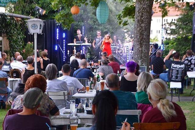 Im Bahnhöfli in Grenzach-Wyhlen gab's erstmals wieder Live-Musik