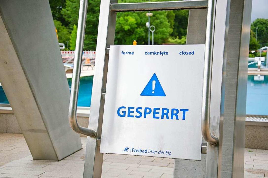 Der Besuch des Emmendinger Freibads is...ahr coronabedingt stark reglementiert.    Foto: Stadtwerke